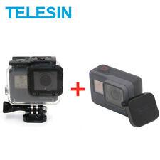 baec7a53c70 TELESIN 45M Carcasa Funda Impermeable con Tapa de Lente para GoPro Hero 5 6  7 nos