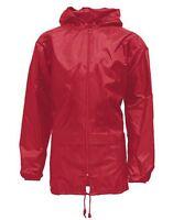 New Mens Womens Unisex Plus Size Hooded Kagool Lightweight Rain Coat Jacket