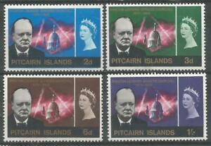 PITCAIRN ISLANDS 1966  QEII  MVLH Churchill  Commemoration  Set of 4 SG53-56