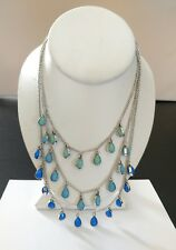 """Premier Designs Jewelry PACIFIC Necklace New in Box 16"""" w/4"""" Ext 18"""" Rem Strand"""