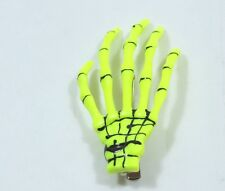 Skeleton Hand Hair Clip Yellow Halloween Costume Spooky Creepy