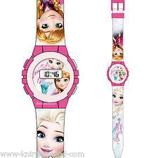 Disney Frozen 2 Kinder Silikon Armband Uhr Kinderuhr Armbanduhr Lernuhr Digital