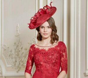John Charles 26735 H52 Rot Mutter der Braut Hochzeit Kirsche Format Hut