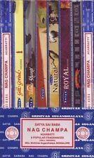 (11,19€/100g) Räucherstäbchen 8er Set-Satya Nag Champa Aastha Royal Natural Räuc