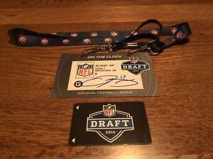 ODELL BECKHAM JR AUTO 2014 NFL DRAFT TAG BADGE WITH DRAFT CARD 1/1 BECKETT COA