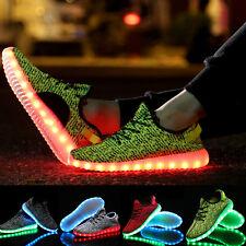 Neueste Unisex LED Basketball Schuhe Farbwechsel RGB USB Leuchtschuhe Sneakers
