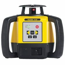 Leica RUGBY 640 ROTATING LASER LEVEL 800m Single Grade, Red Beam +Batteries