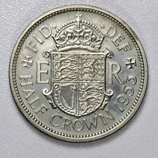GB ELIZABETH II PROOF HALF CROWN - 1953 ++ SUPERB PROOF!! ++ [974-10]