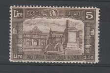FRANCOBOLLI - 1928 REGNO L.5 MILIZIA II° MNH A/9348