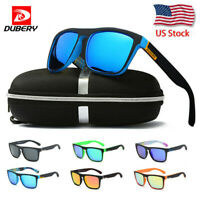 DUBERY Sport Polarized Driving Sunglasses Outdoor Riding Fishing Goggles W/Box