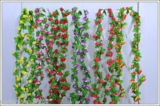 7 feet String Fake Artificial Flowers Vine Ivy Leaf Garland Floral Home Decor