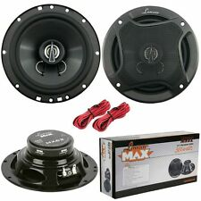 "Lanzar Max 6.5"" 16.5cm 17cm 180w Coaxial Two Way Pair Car Door Shelf Speakers"
