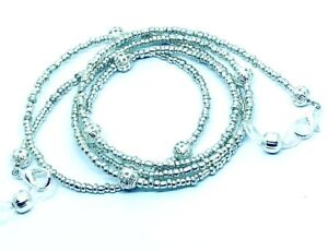 Chic Silver Glasses chain Beaded Lanyard Cord Chain Strap Spectacles Sunglasses