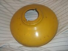 Vintage Yellow Commercial Industrial Ceiling Light Fixture Shade 15 inch