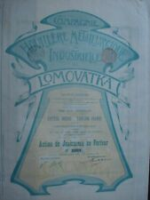 LOT 2 ACTIONS DIFFERENTES RUSSIE LOMOVATKA CIE HOUILLERE ET INDUSTRIELLE 1899