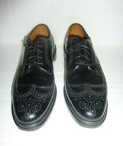 Florsheim Imperial Wing Tip Black Oxfords Men's Shoes Sz 14 Leather