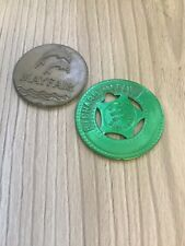More details for 2 vintage gaming tokens mayfair and seattle space needle