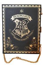 Women's Harry Potter Hogwarts Hard Clutch Handbag Crest Chain Strap Gold Primark