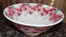 Emma Bridgewater Pink Pansy Medium Serving Bowl 24cm First Quality