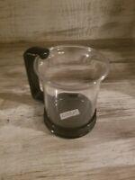Bodum Glass Coffee Cup Mug Tea Black Removable Handle Made in Switzerland