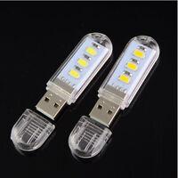 Mini Portable Bright 3 LED Night Light USB Lamp for PC Laptop Reading 5730 SMD