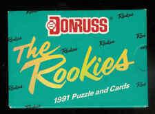 1991 Donruss Rookies Complete Set 1 - 56 Baseball