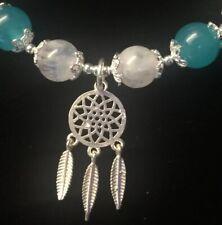 Bracelet 925 Sterling Silver Amazonite +White Moonstone Dream Catcher Gemstone
