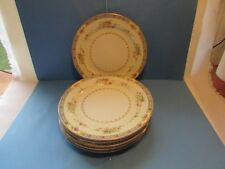 Imperial China Floral IMP75 Pattern Blue Band Flowers Cream White 6 Salad Plates