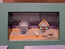 Beach frame art, canvas, beach in a box, made with natural sand