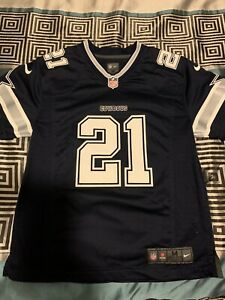 Dallas Cowboys Ezekiel Elliot #21 Youth Medium (10/12) Navy Nike Limited Jersey