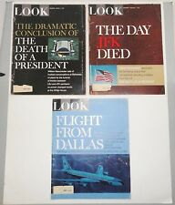LOOK Magazines (3) From The Death Of A President Series - 1967 - Kennedy