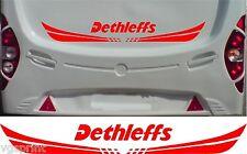 DETHLEFFS Caravane/camping-car 2 pièce KIT AUTOCOLLANT choix de couleur & taille