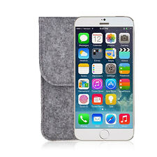 5.5 inch Bag Wool Felt Sleeve Case Pouch for iphone 6 plus iphone 6s plus