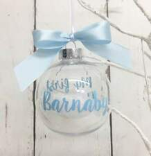 Personalised Christmas Bauble My 1st Christmas First Christmas Xmas Baby's Baby
