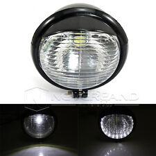 5'' Oeil d'Ange Moto Double Feux Avant Pièces Ampoules Lampe Phare Noir Blanc