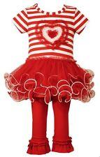 NWT Girls 24m 24 MONTHS BONNIE JEAN  Heart Tutu Outfit PRETTY SET