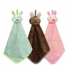 Hands Face Towel Happy Quick Dry Kitchen Cartoon Animal Hanging Cloth Soft Plush