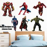 SuperHeroes Kids Boy Girls Bedroom Vinyl Decal Wall Art Sticker New Gift Colour