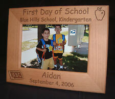 Personalized Engraved 1st Day of School 4x6 Frame