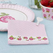 VINTAGE Rose Tovaglioli di carta-shabby chic-tè pomeridiano/Feste/Rosa-gamma in negozio!