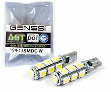 2x T10 Wedge 194 LED WHITE CANBUS Light Bulb 13SMD 5050 168 921 2825 W5W 158 192