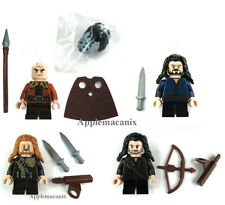 LEGO Hobbit THORIN BIFUR FILI KILI MINIFIGS Dwarves LOT OF 4 79001 79002 79013