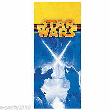 STAR WARS Episode III PLASTIC TABLE COVER ~Vintage Birthday Party Supplies Cloth