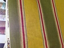 waverly romeo bliss verde wide stripe cotton linen print fabric by the yard