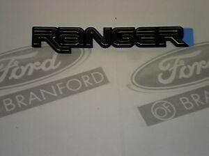 OEM FORD RANGER FRONT FENDER TRANSFER NAME PLATE CHROME RH LH F67Z-16720-B