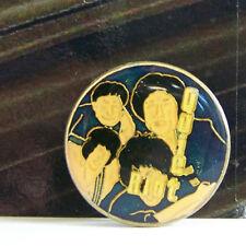 Rare Vintage Pin Metal Pinback 1980s Metal Rock Enamel Quiet Riot Round 3