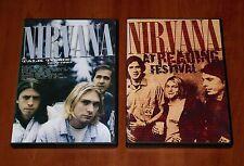 NIRVANA 2x DVD Lot TALK TO ME BLEACH TOUR 1989 LIVE AT READING FESTIVAL 1992 New