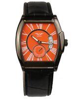 Minoir Uhren - Modell Huriel Automatikuhr orange / schwarz, Herrenuhr, Damenuhr