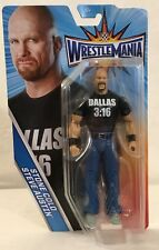 WWE Wrestlemania STONE COLD STEVE AUSTIN Action Figure NEW 2017 mattel basic