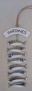 Hanging  Sardines Decoration  Fish Decoration  Sprats FREE POST Nautical
